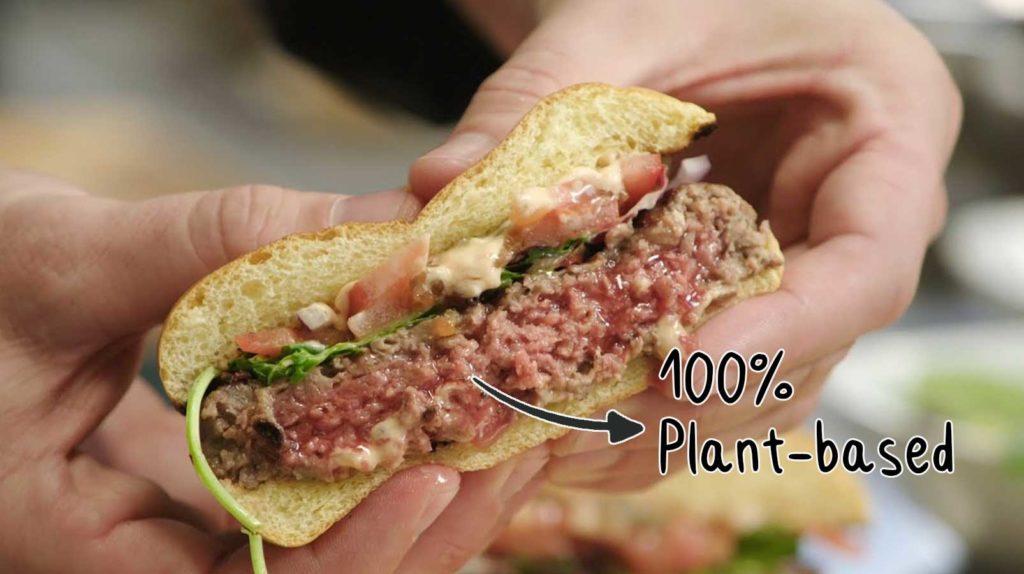 100% Plant-based burger
