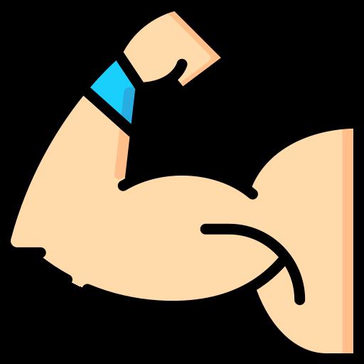 Artwork of an arm flexing