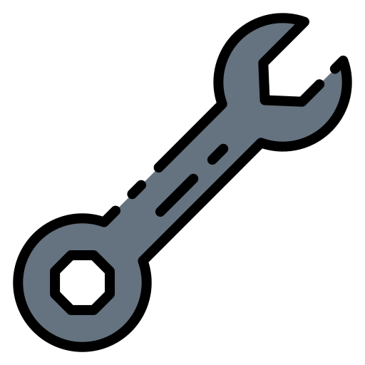 artwork of a wrench